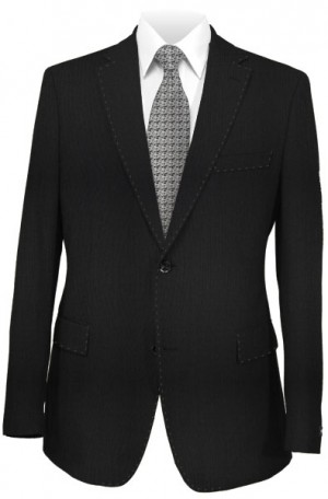 Rubin Black Textured Slim Fit Suit 40660