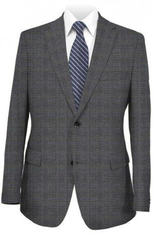 Rubin Gray Windowpane Tailored Fit Suit 40959