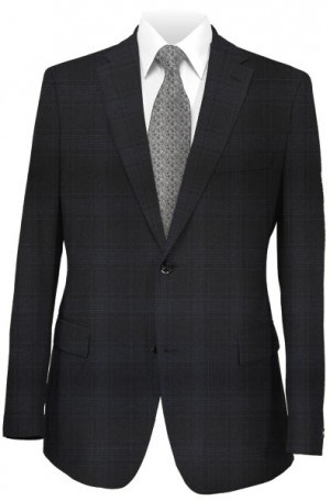 Rubin Black Pattern Tailored Fit Suit 40960