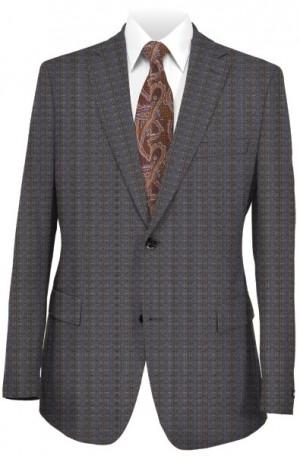 Rubin Medium Gray Pattern Tailored Fit Suit #41349