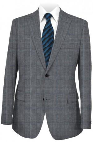 Rubin Gray Windowpane Tailored Fit Suit #41999