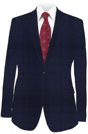 Rubin Navy Pattern Tailored Fit Suit #42037D