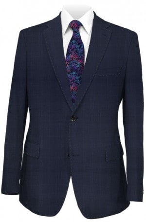 Rubin Navy Pattern Tailored Fit Suit 42101