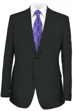Rubin Black Tonal Check Tailored Fit Suit #42149