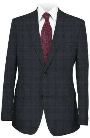 Rubin Charcoal Tonal Pattern Tailored Fit Suit 43409