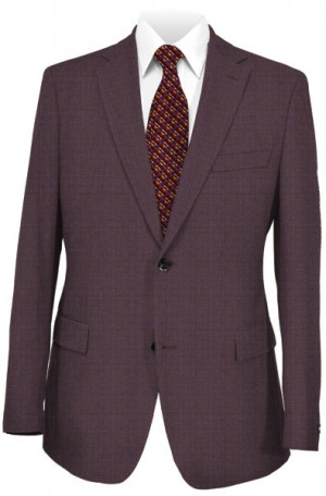 Rubin Burgundy Subtle Windowpane Tailored Fit Suit #43510