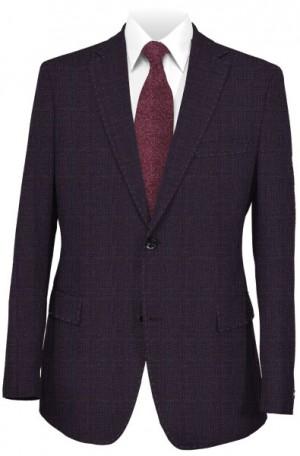 Rubin Burgundy Pattern Tailored Fit Suit #43520