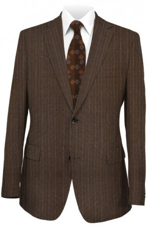 Rubin Brown Stripe Tailored Fit Suit 44252