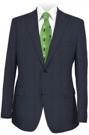 Rubin Navy Subtle Windowpane Tailored Fit Suit 44281