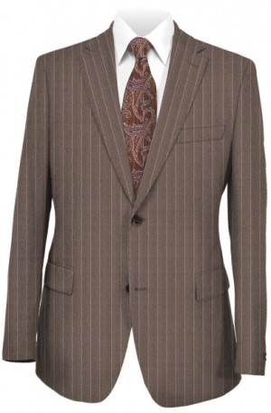 Rubin Taupe Stripe Tailored Fit Suit #45094