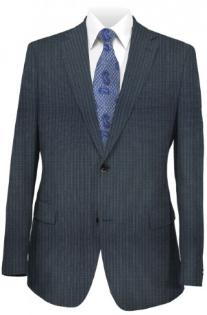 Rubin Blue Stripe Slim Fit Suit #45176