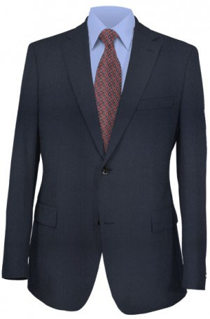 Pronto Navy Herringbone Suit #47002