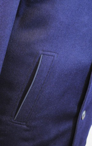 International Laundry Navy Cashmere Blend Coat #4806-NVY