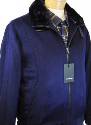 International Laundry Navy Cashmere Bomber Jacket #4808-NVY