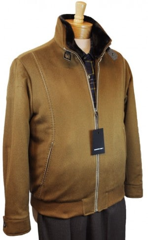 International Laundry Camel Tan Cashmere Bomber Jacket #4808-TAN