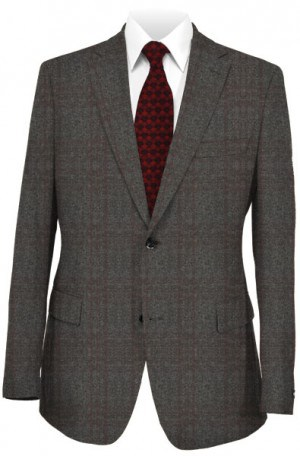 DKNY Charcoal Pattern Slim Fit Sportcoat #4RW0075