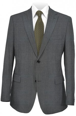 Hugo Boss Blue Gray Sharkskin Gentleman's Cut Suit #50128751-030