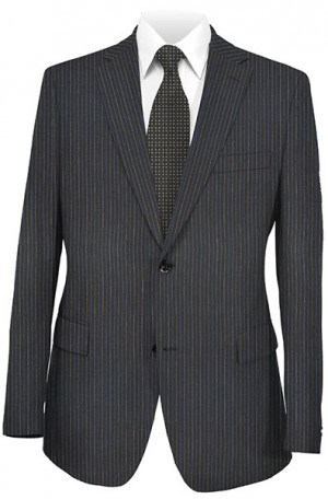 Rubin Navy Stripe Gentleman's Cut Suit 50147