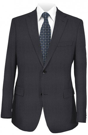 Hugo Boss Navy Solid Color Tailored Fit Suit #50170572-401