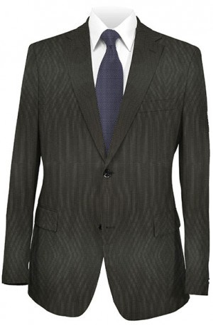 Hugo Boss Brown Micro-Check Tailored Fit Suit #50177673-001