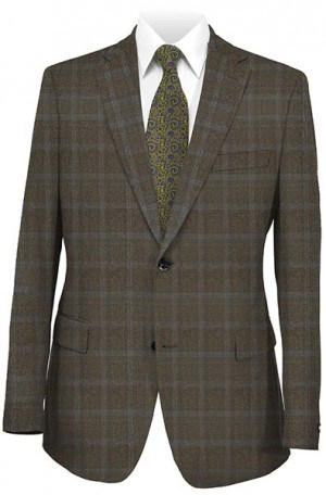 Hugo Boss Brown & Blue Pattern Gentleman's Cut Suit #50190615-201