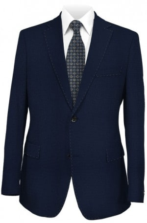 Hugo Boss Navy Solid Color Tailored Fit Suit #50190925-401