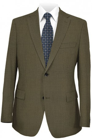 Hugo Boss Medium Brown Mini-Check Gentleman's Cut Suit #50199986-260