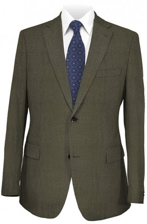 Hugo Boss Brown Herringbone Gentleman's Cut Suit #50207382-60