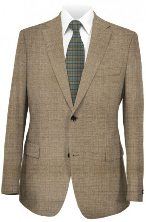 Hugo Boss Tan Sharkskin Gentleman's Cut Suit #50220428-250
