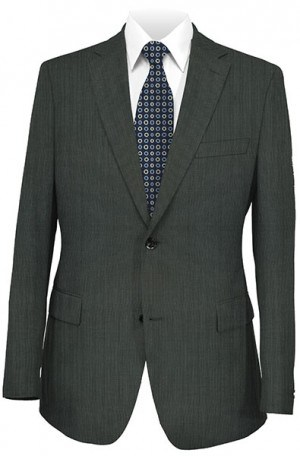 Hugo Boss Medium Gray Stripe Tailored Fit Suit #50220444-060