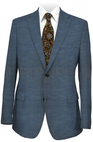 Hugo Boss Blue Micro-Check Tailored Fit Suit #50241622-420