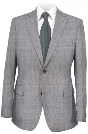 Hugo Boss Gray Pattern Tailored Fit Suit #50241677-030