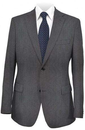 Hugo Boss Gray Hairline Tailored Fit Suit #50241678-401