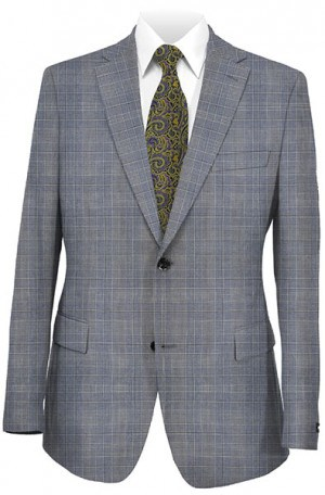 Hugo Boss Blue Plaid Tailored Fit Sportcoat #50241969-460