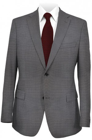 Hugo Boss Charcoal Mini-Check Tailored Fit Suit #50241992-021