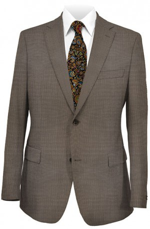 Hugo Boss Brown Mini-Check Tailored Fit Suit #50241993-201