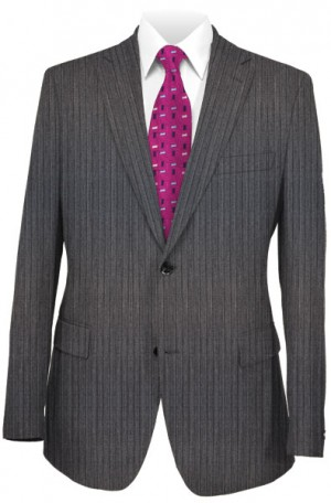 Hugo Boss Gray Stripe Tailored Fit Suit #50250665-021