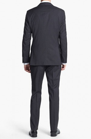 Hugo Boss Brown Mini-Check Tailored Fit Suit #50251305-021