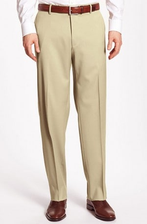 Hugo Boss Tan Tailored Fit Dress Slacks #50258943-231
