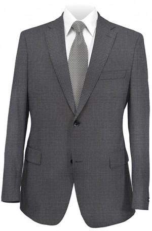 Hugo Boss Gray Mini-Check Tailored Fit Suit #50262917-021