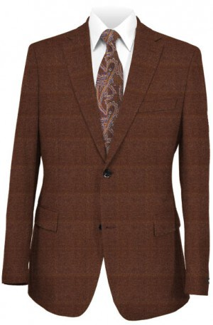Hugo Boss Rust Windowpane Slim Fit Sportcoat #50300165-601