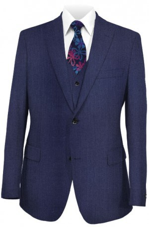 Hugo Boss Blue Vested Tailored Fit Suit #50300387-410