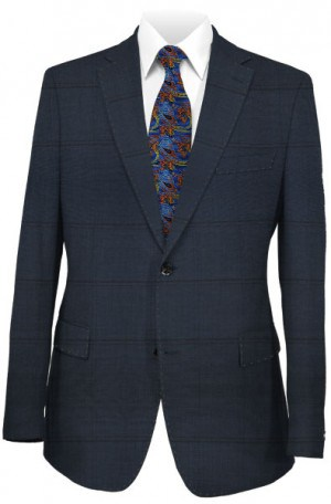 Hugo Boss Navy Windowpane Tailored Fit Suit #50300416-411