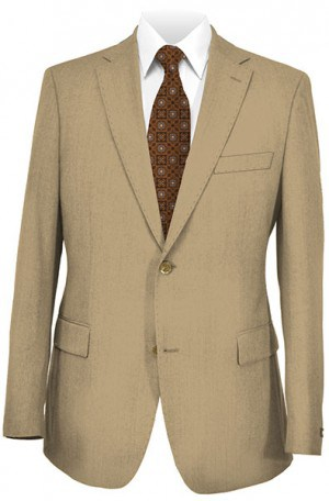 Rubin Tan Gentleman's Cut with Pleated Slacks Suit 50303