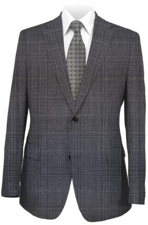 Hugo Boss Gray Pattern Tailored Fit Suit #50312381-021