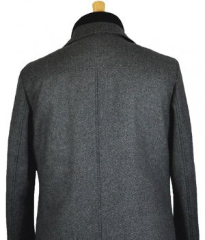 Hugo Boss 3/4 Gray Twill Coat #50320538-021