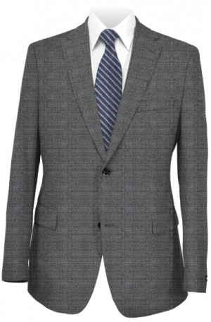 Hugo Boss Gray Plaid Tailored Fit Suit #50321097-033