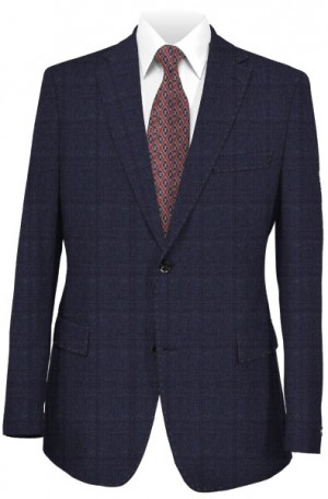 Hugo Boss Navy Pattern Tailored Fit Suit #50321097-423