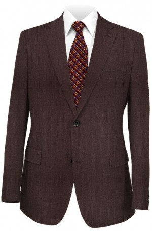 Hugo Boss Burgundy Mini-Check Tailored Fit Suit #50321108-604