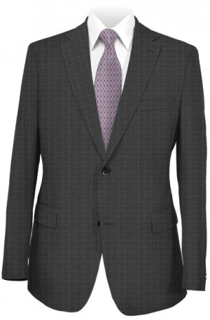 Hugo Boss Gray Pattern Slim Fit Suit 50321156-015